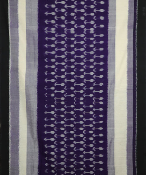 Purple shade pochampally Cotton Saree