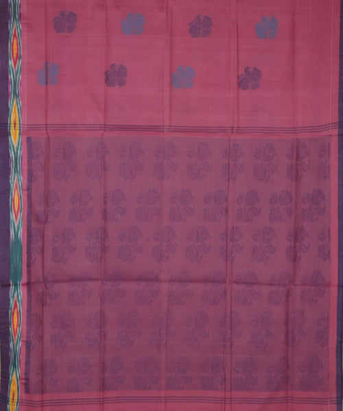 Mulberry violet handloom Rajahmundry fancy cotton saree
