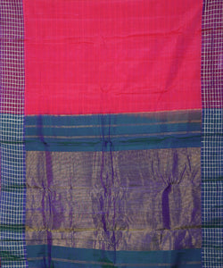 Imperial red Handloom Gadwal SICO saree