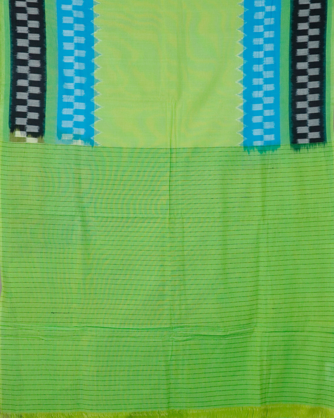 Green color shade pochampally cotton saree