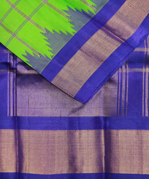 Green color handloom Gadwal Silk saree
