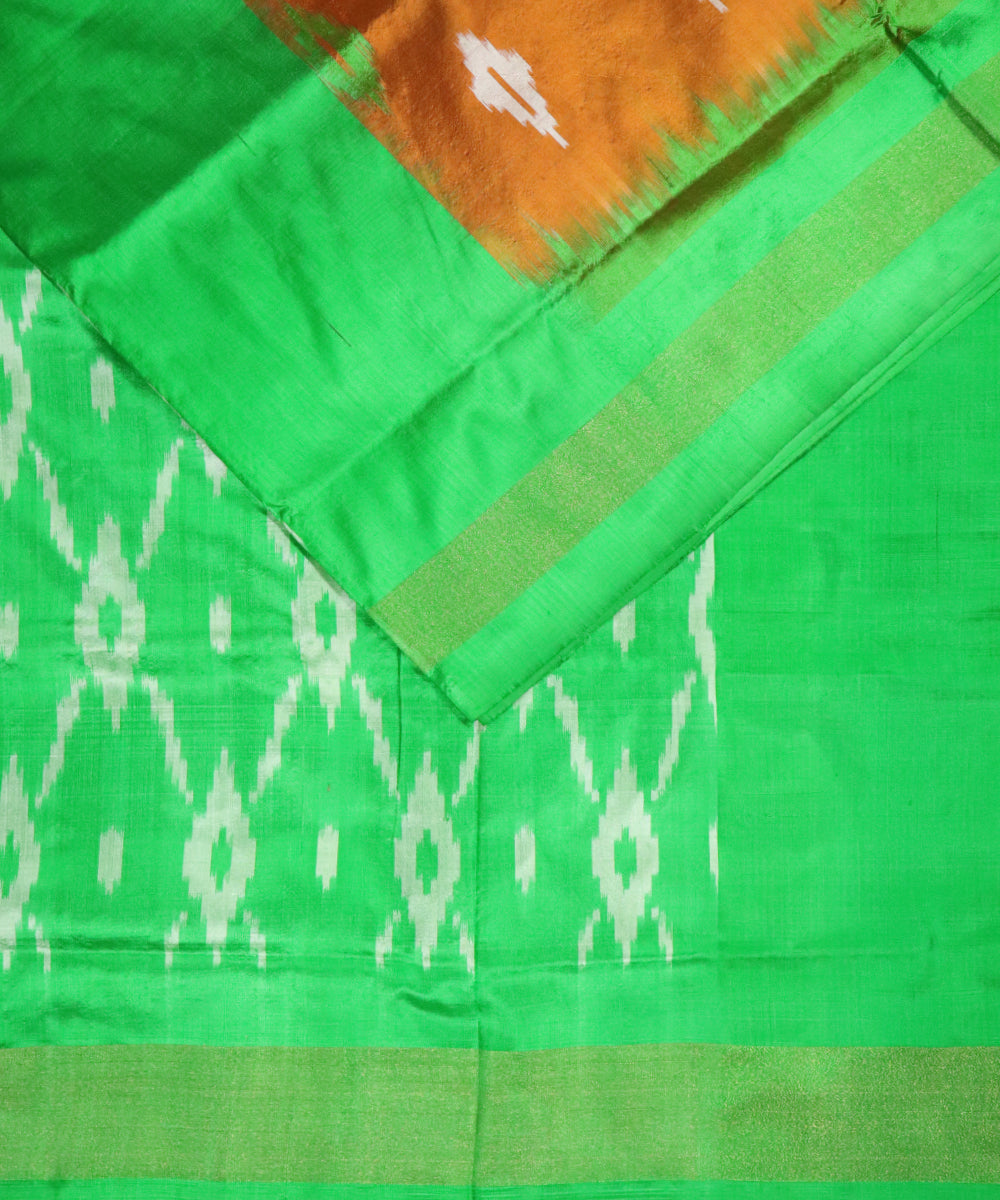 Mahagony brown color Pochampally Silk Saree