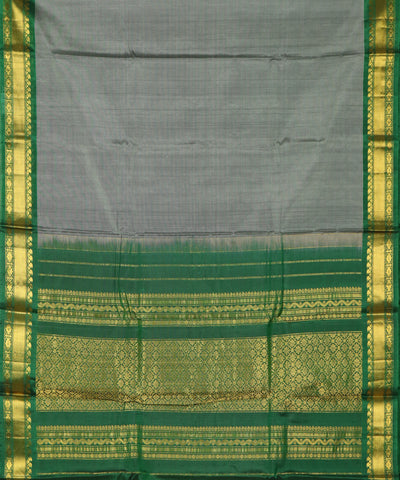 Steel gray Handloom Gadwal SICO saree