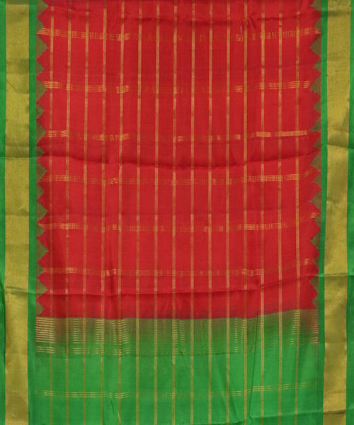 Red  handloom Gadwal Silk saree