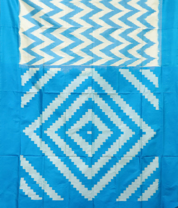 Sky Blue Pochampally Silk Sarees