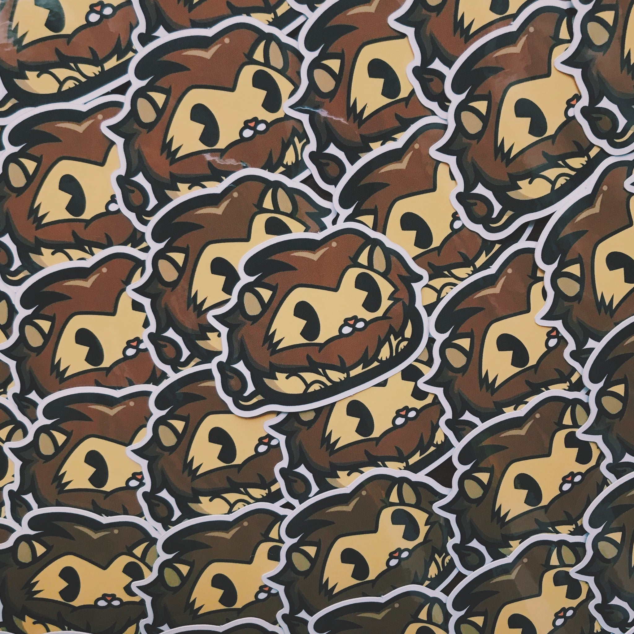 Lion Poo Sticker