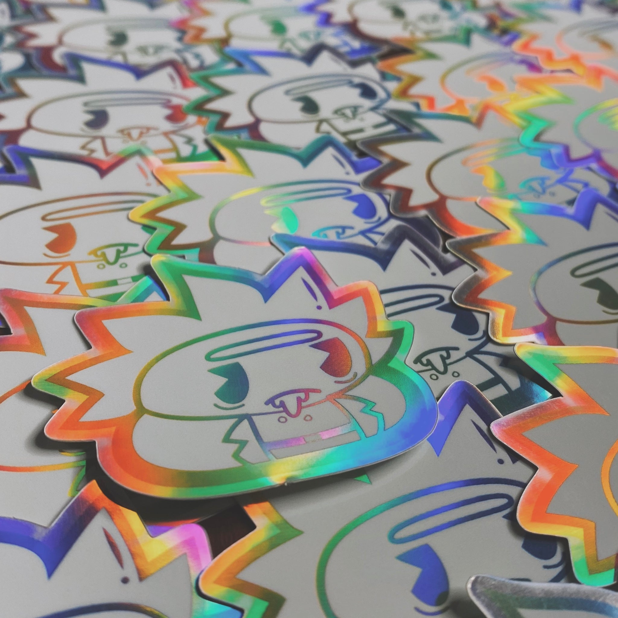 Rick Poo Rainbow Rare Sticker (Limited to 50)