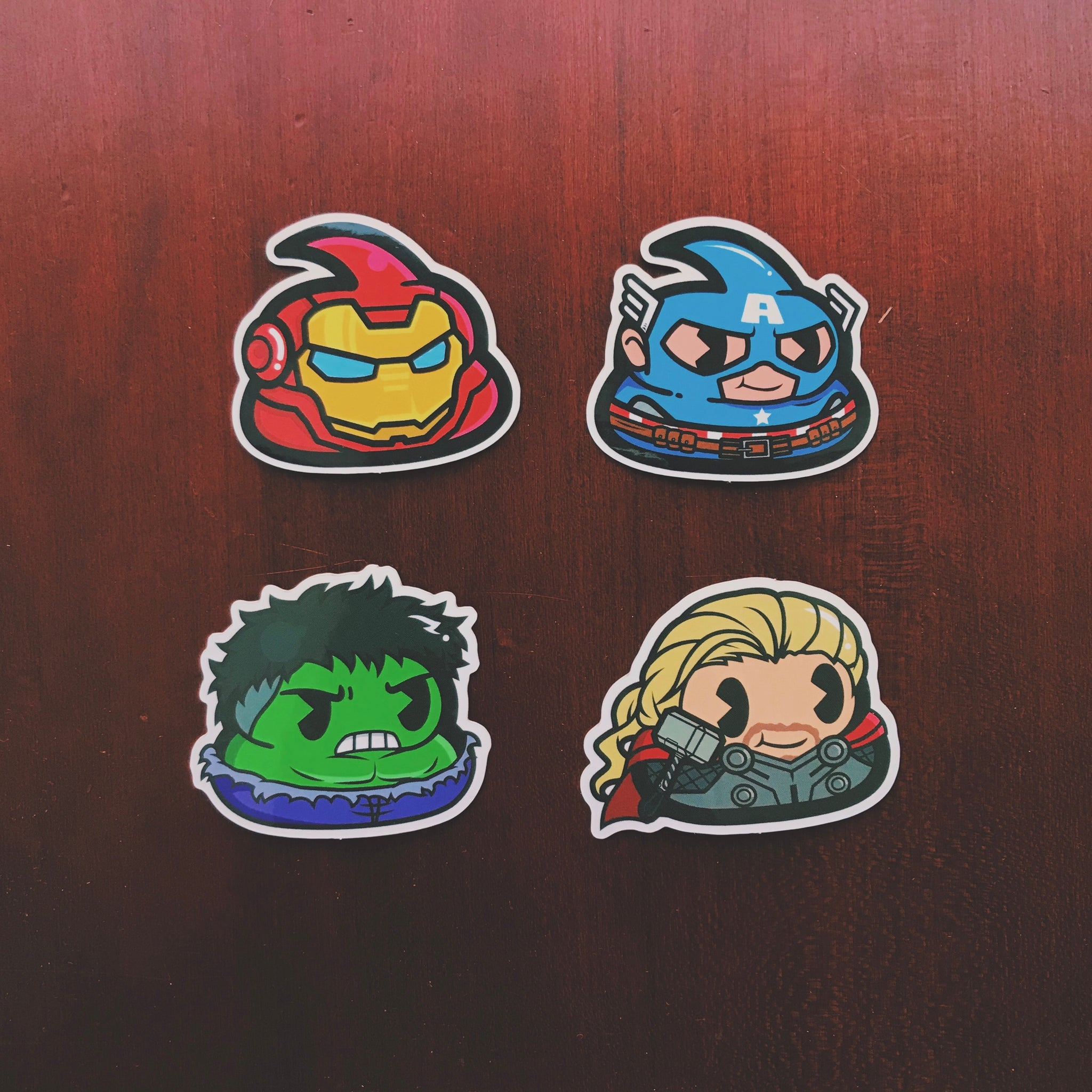 Poovengers Series Sticker Pack