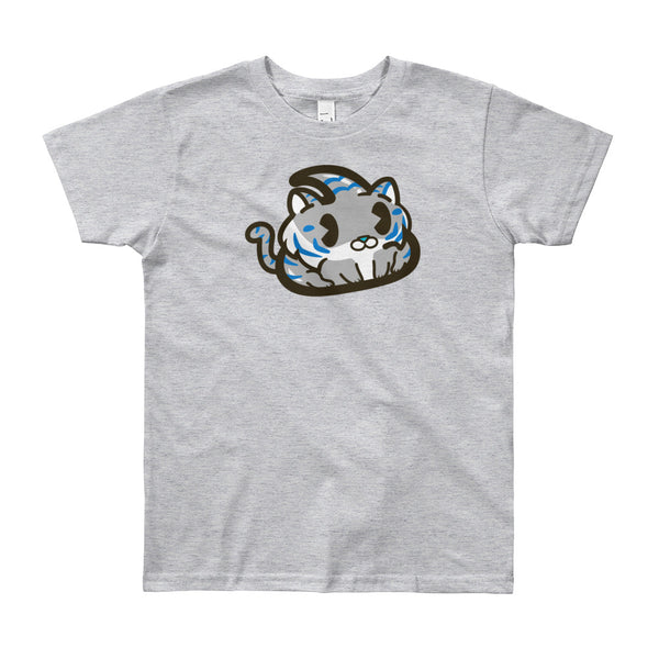Grey Tiger Youth Short Sleeve T-Shirt