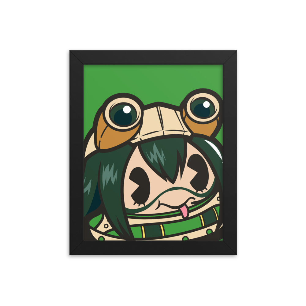 Froppee 8x10 Framed Print