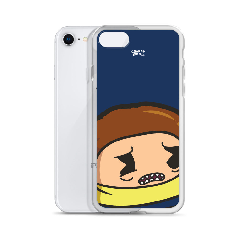 Morty Poo (Blue) iPhone Case
