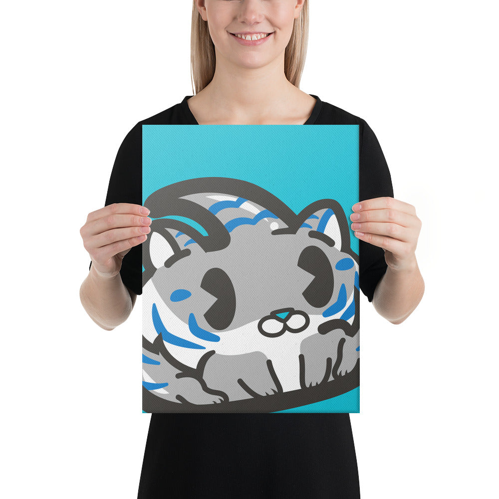 Grey Tiger 12x16 Canvas Print