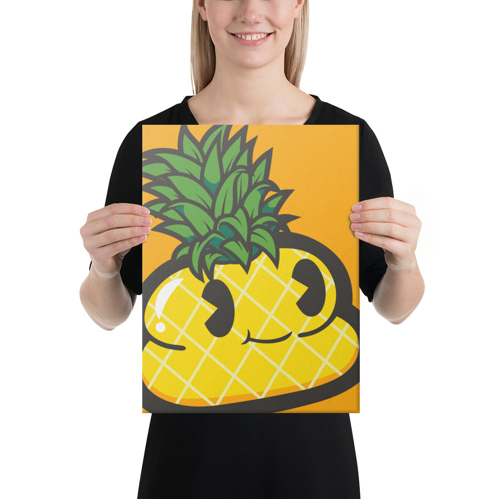 Pineapple Andre 12x 16 Canvas Print