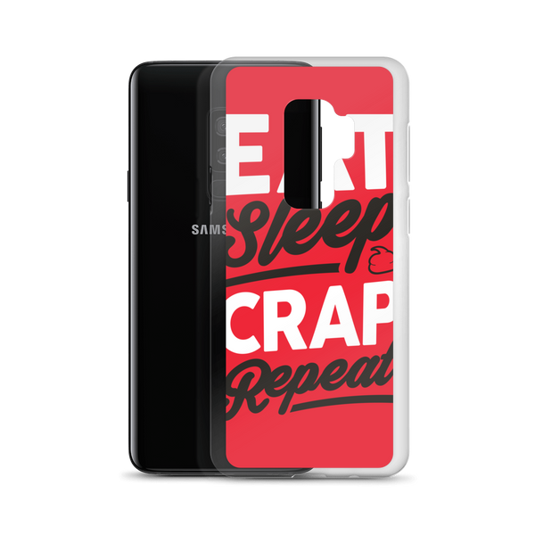 Eat Sleep Crap Repeat (Red) Samsung Case