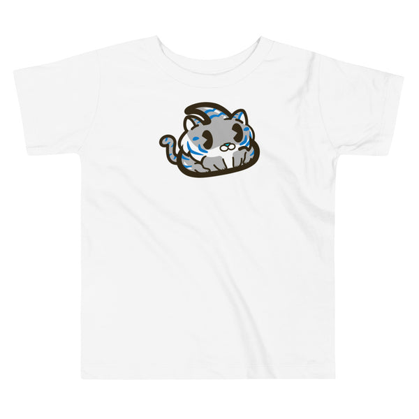 Grey Tiger Toddler Short Sleeve Tee