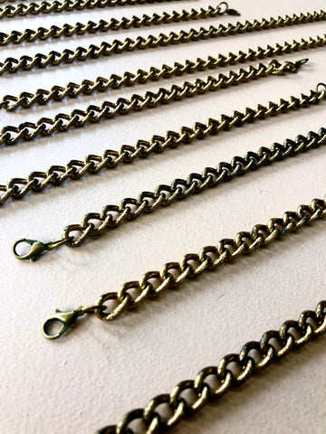 Brass Face Mask Chain