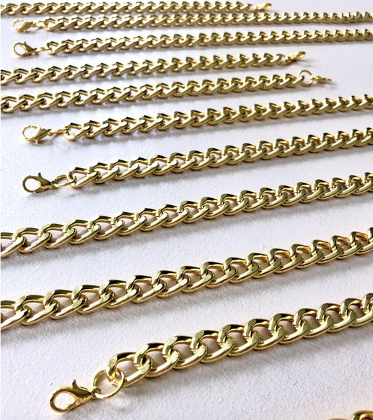 Yellow Gold Face Mask Chain