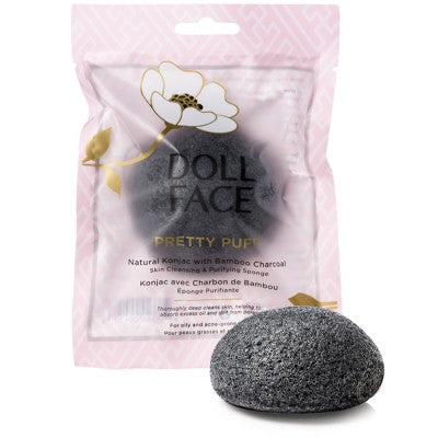 Doll Face Beauty Pretty Puff Bamboo Charcoal Natural Purifying Sponge