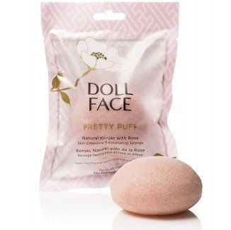 Doll Face Beauty Pretty Puff Rose Cleansing Konica Sponge
