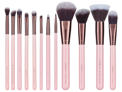 LUXIE ROSE GOLD COLLECTION SYNTHETIC 12 PIECE MAKEUP BRUSH SET