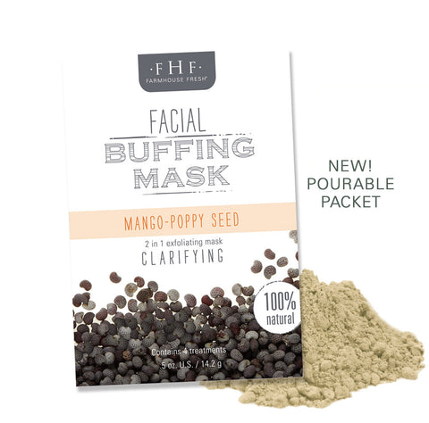 FarmHouse Fresh - Facial Buffing Mask - Mango Poppy Seed