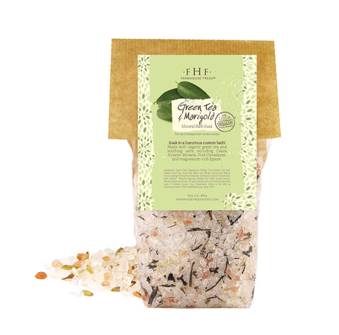 FarmHouse Fresh - Gourmet Mineral Bath Soak - Green Tea & Marigold