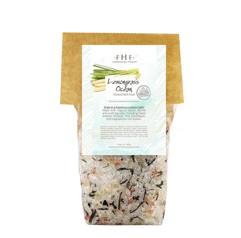 FarmHouse Fresh - Gourmet Mineral Bath Soak - Lemongrass Ocean