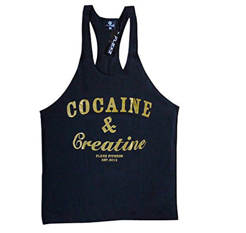 COCAINE & CREATINE Singlet Stringer - Flexz Fitness