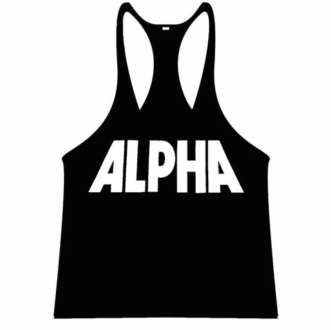 ALPHA Singlet Racerback - Black/White - Flexz Fitness - 1