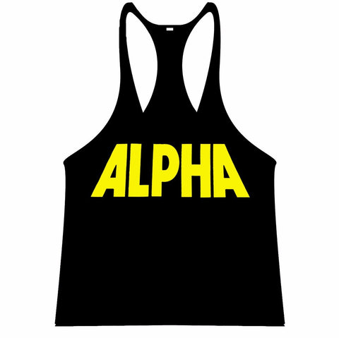ALPHA Singlet Racerback - Black/Yellow - Flexz Fitness - 1