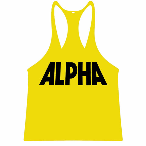 ALPHA Singlet Racerback - Yellow/Black - Flexz Fitness