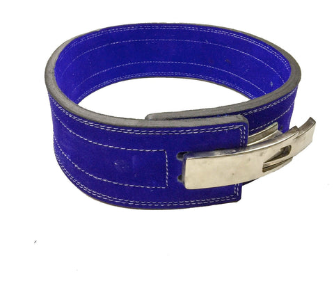 Powerlifting Lever Buckle 10mm Belt - Blue - Flexz Fitness - 1