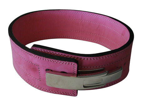Powerlifting Lever Buckle 10mm Belt - Pink - Flexz Fitness - 1
