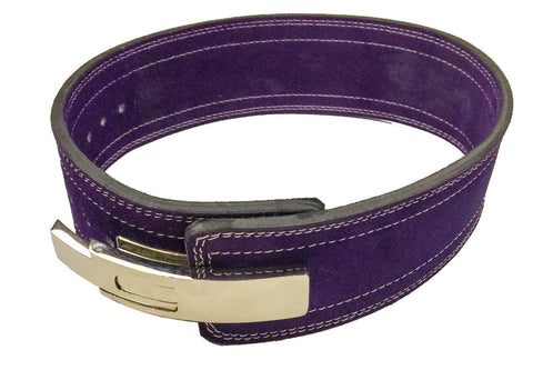 Powerlifting Lever Buckle 10mm Belt - Purple - Flexz Fitness - 1
