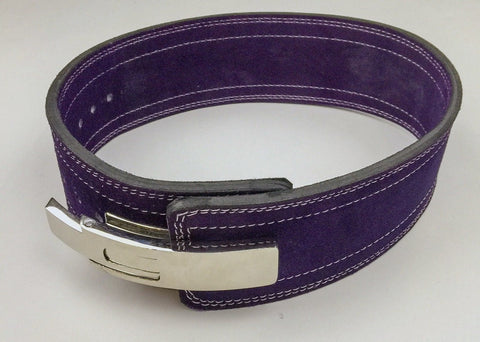 Powerlifting Lever Buckle 10mm Belt - Violet - Flexz Fitness