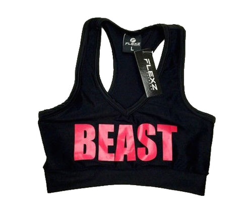 Beast Sports Bra - Black/Pink - Flexz Fitness