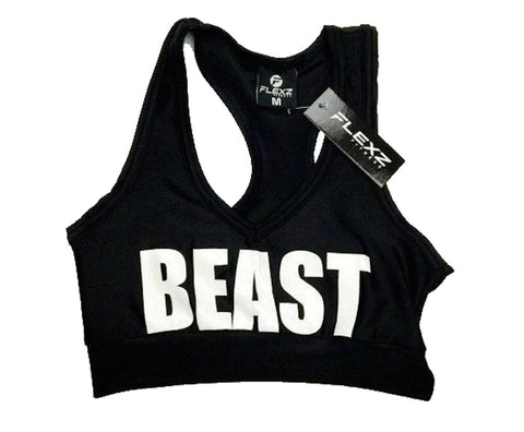 Beast Sports Bra - Black/White - Flexz Fitness