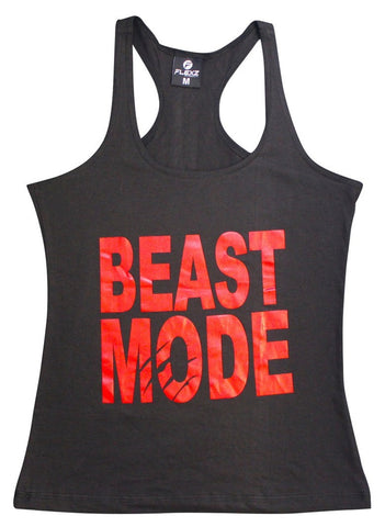 Beast Mode Womens Tank Top - Comfortable racerback to wear at Gym, Yoga, workout and crossfit - Flexz Fitness - 1