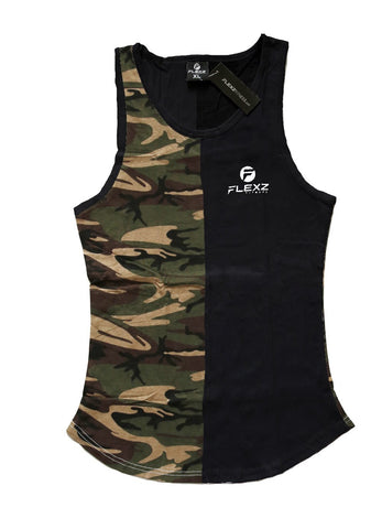 Camo Tank Top - Black/Camo - Flexz Fitness - 1