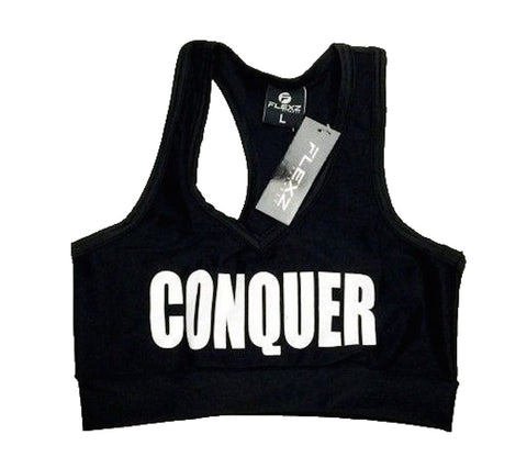 Conquer Sports Bra - Black/White - Flexz Fitness