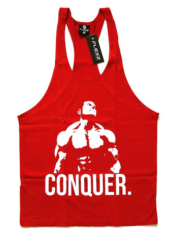 Conquer Singlet Racerback - Red - Flexz Fitness - 1