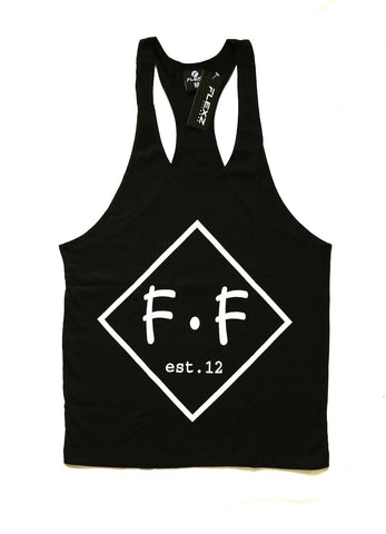 Diamond Singlet Racerback- Black - Flexz Fitness - 1