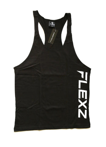 Flexz Singlet - Black/White - Flexz Fitness - 1