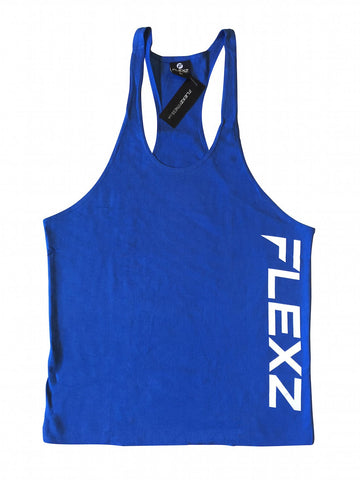 Flexz Singlet - Blue/White - Flexz Fitness - 1
