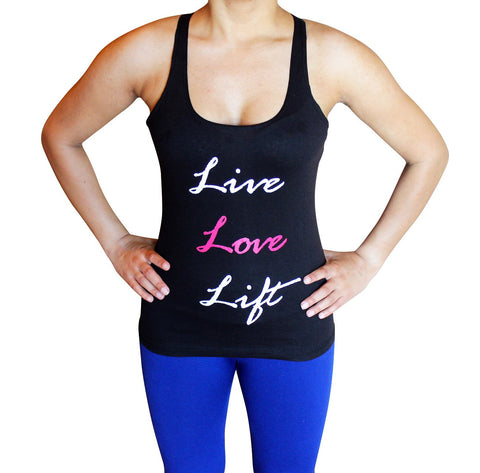 Live Love Lift Womens Tank Top - Comfortable racerback to wear at Gym, Yoga, workout and crossfit - Flexz Fitness - 2