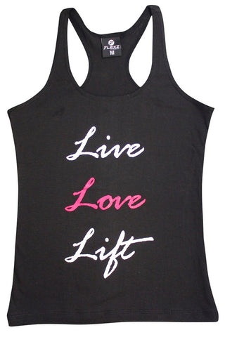 Live Love Lift Womens Tank Top - Comfortable racerback to wear at Gym, Yoga, workout and crossfit - Flexz Fitness - 1