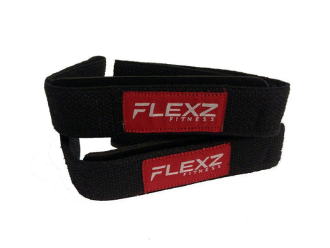 Lifting Grip Non-Slip Straps - Black/Red - Flexz Fitness