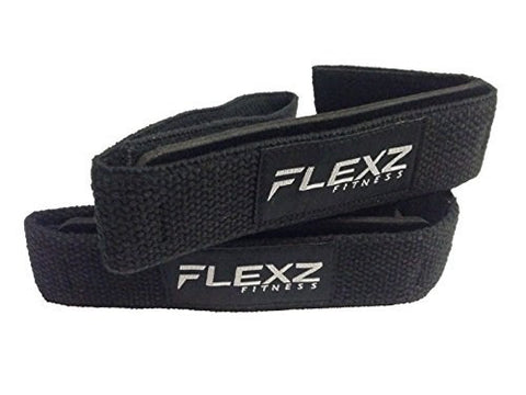 Lifting Grip Non-Slip Straps - Black/White - Flexz Fitness
