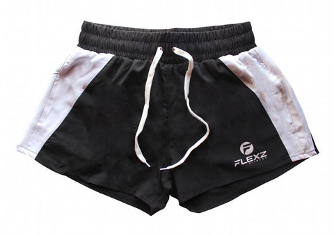 Ibiza Golds Aesthetic Muscle Gym Shorts - Black - Flexz Fitness