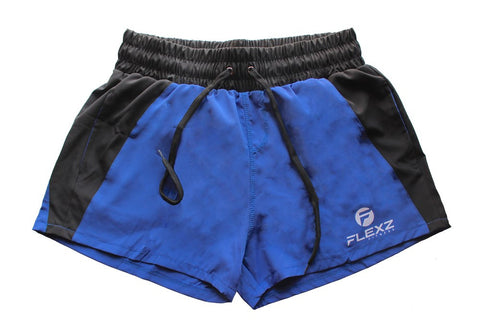 Ibiza Golds Aesthetic Muscle Gym Shorts - Blue - Flexz Fitness